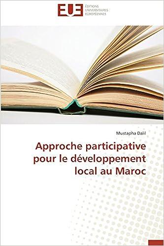 Approche participative pour le développement local au Maroc pdf