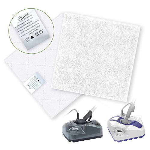 Mop Pads Replacement 2 Sets of Microfiber Cleaning Pads Washable Microfiber Mop Pads with 3 Layers, Steam Pocket Mop Pads for Most Hard Flooring ()
