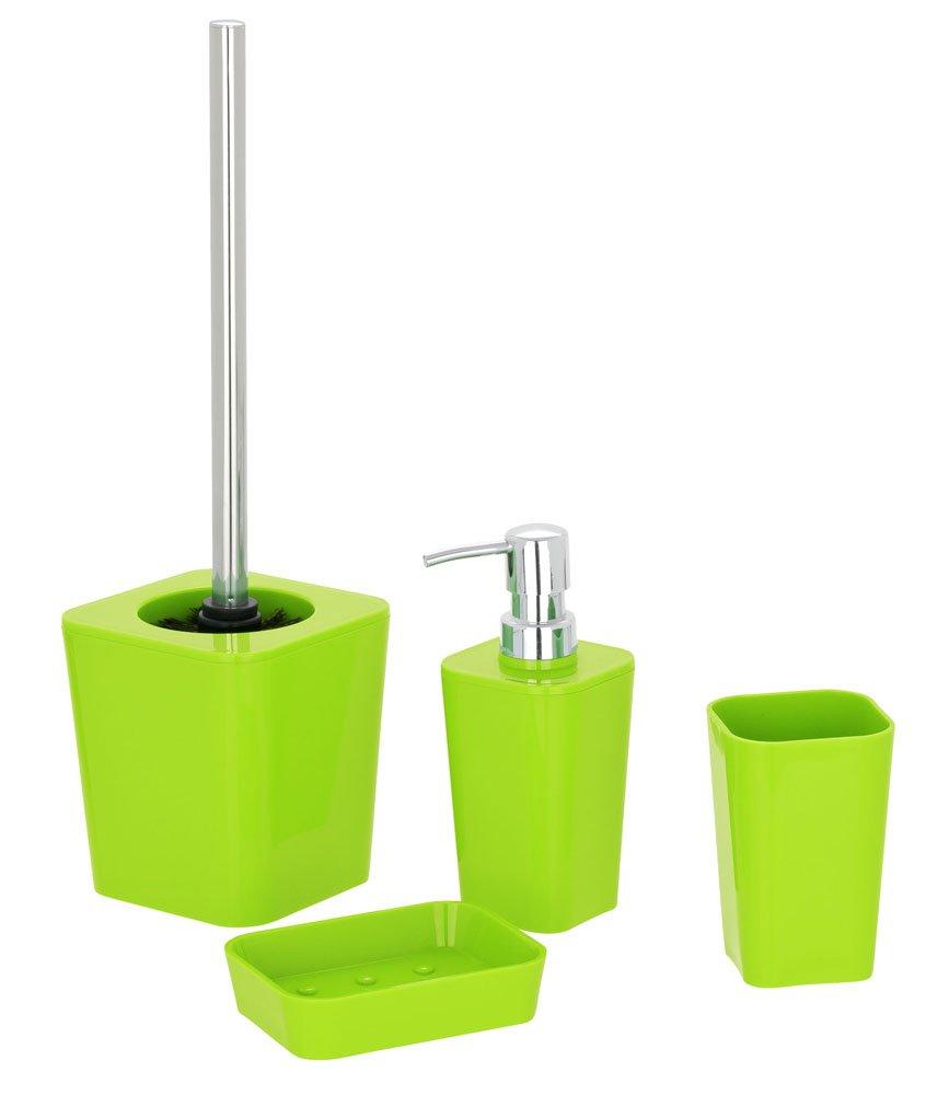 Colore: Verde 300 ml in plastica Dispenser per Sapone Candy 7 x 17.5 x 7 cm Wenko 20324100