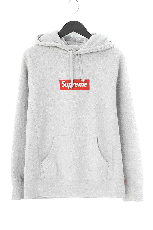 (シュプリーム) SUPREME 【16AW】【Box Logo Hooded Sweatshirt】ボックスロゴフーデッドスウェットパーカー(S/グレー) 中古 B07F1L6LK9  -