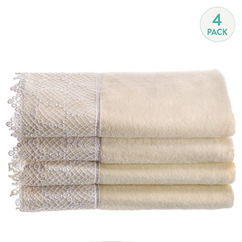 Cream Hand Towels - 9