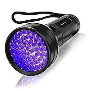 #LightningDeal Vansky Flashlight Black Light 51 LED Blacklight Detector for Dog/Cat Urine,Dry Stains,Bed Bug, Matching with Pet Odor Eliminatornator, Eliminator, uv-2