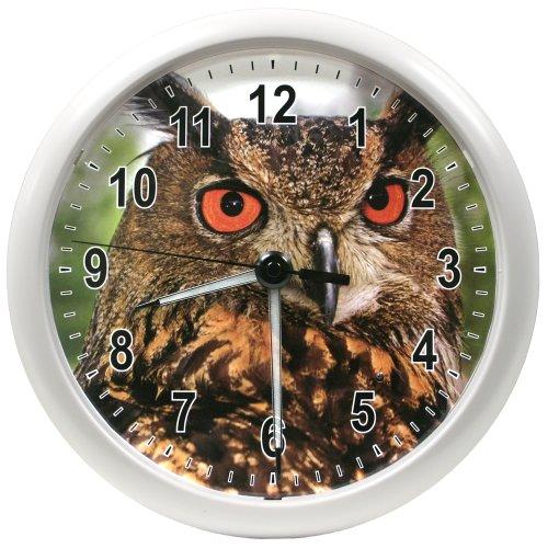 La Crosse Technology 403-310E 10 Inch Lighted Hands Clock - Owl Design