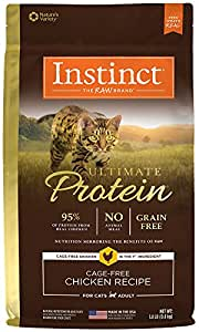 Instinct Ultimate Protein Grain Free Cage Free Chicken Recipe Natural Dry Cat Food by Nature's Variety, 1.8 lb. Bag