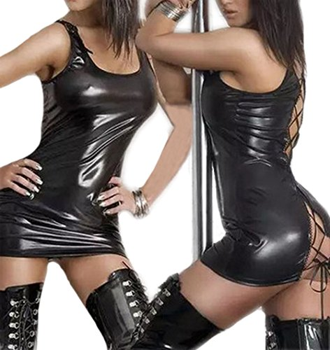 Mini Dress Leather Dress - 5