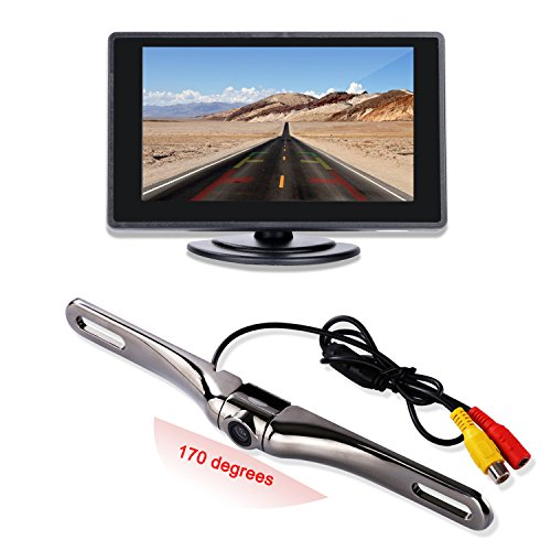 Backup Camera and Monitor Kit for Car,4.3