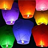 20 Chinese Sky Fly Fire Lanterns Wish Party Wedding Birthday Multi Color