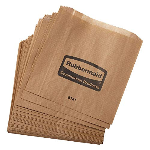 (Rubbermaid FG6141000000 Waxed Bags for 6140 Receptacle - 250 / CS)