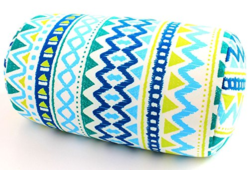Cool Cover Bolster - Bookishbunny Micro Bead Bolster Tube Pillow with Removable Cover - Squishy and Cool Fabric, Odorless Hypoallergenic, 12