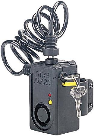 VisorTech - Candado antirrobo con cable y alarma para bicicleta ...