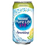Nestle Pure Life Sparkling Lemon Lime 355ml Cans, 24 Count
