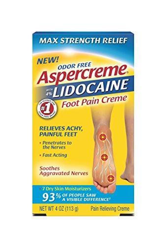 - Aspercreme Lidocaine Foot Pain Crème, 4 Ounce