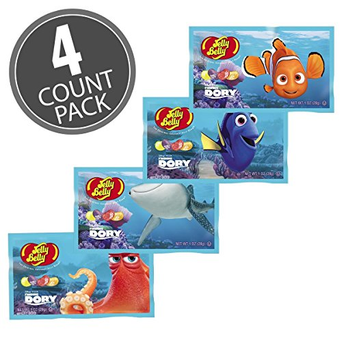 UPC 071570001681, Jelly Belly Finding Dory Disney Pixar Jelly Beans 1 oz Bags (4 pack)