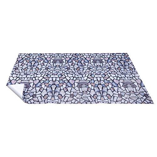 Non-Slip Kitchen Floor Mat Slip Resistant Home Hallway Bathroom Runner Indoor Carpet Outside Door Rug Thin Waterproof Heavy Duty Sticker(3D Tile)