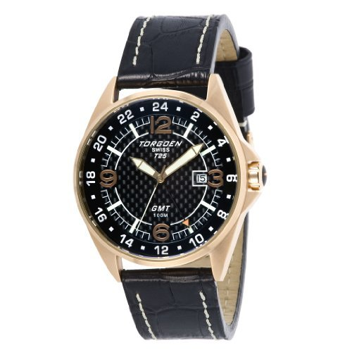 Torgoen - T25101 - Gents Watch - Analogue Quartz - Grey Dial - Black / Beige Leather Strap