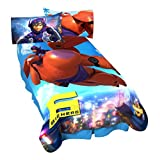 Disney Big Hero 6-Jet Blast Micro Raschel Blanket, 62 by 90-Inch