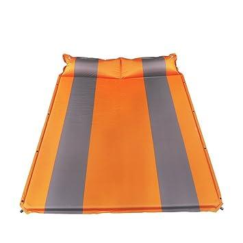 MYY Alfombra De Camping Auto Inflado Estera para Dormir Mochilero Colchón Ligero Colchón para Saco De Dormir Tienda De Campaña Senderismo (Gris Y Naranja): ...