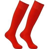 Soccer Socks, HAPYCEO Unisex Long Tube Solid Team Sports Football Baseball Athletic Over Calf Socks