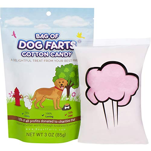 Little Stinker Bag of Dog Farts Cotton Candy Funny Dog Lover Gift for All Ages Unique Birthday for Friends, Mom, Dad, Girl, Boy Stocking Stuffer White Elephant Funny Christmas Gag Gift