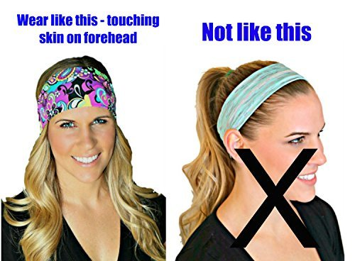 RAVEbandz Fashion Stretch Headbands (WONDER WOMAN Superheros) Non Slip Wide Hippie Boho Sports Fitness Performance Athletic Hair Bands for Women and Girls