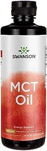 Swanson 100% Pure Mct Oil Pharmaceutical Grade 16 fl Ounce (1 pt) (473 ml) Liquid