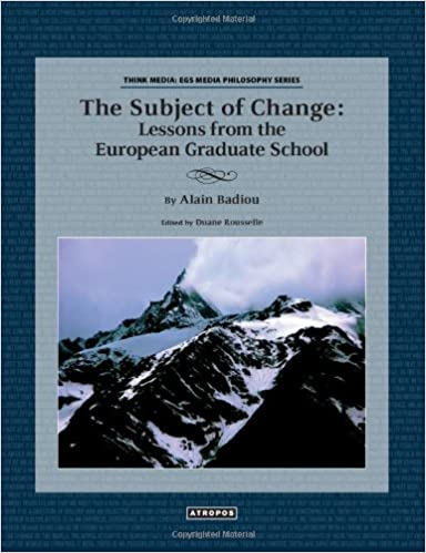 The Subject of Change: Lessons from the European Graduate School