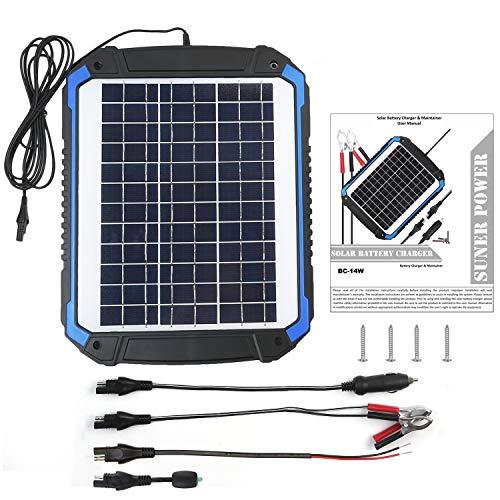 Suner Power 12v Solar Car Battery Charger Amp Maintainer