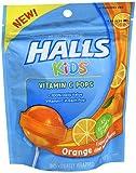 Halls Kids Vitamin C Pops, Orange, 10 Little Pops (Pack of 2)