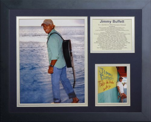 """Legends Never Die """"Jimmy Buffet II Framed Photo Collage, 11 x 14-Inch"""