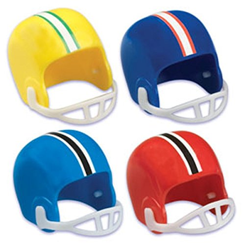 Oasis Supply Assorted Cupcake/Cake Decorating Toppers, 1-1/2-Inch, Football Helmets, Set of 12 (Football Field Cake)