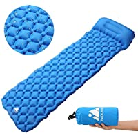 Evoland Self Inflating Sleeping Pad with Pillow for Camping, Backpacking, Hiking, Lightweight, Waterproof, Compact, Durable, Storage Bag Included