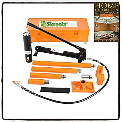 20 Ton Hydraulic Jack Air Pump Lift Porta Power Ram Repair Tool Kit Set W/Case by Skroutz