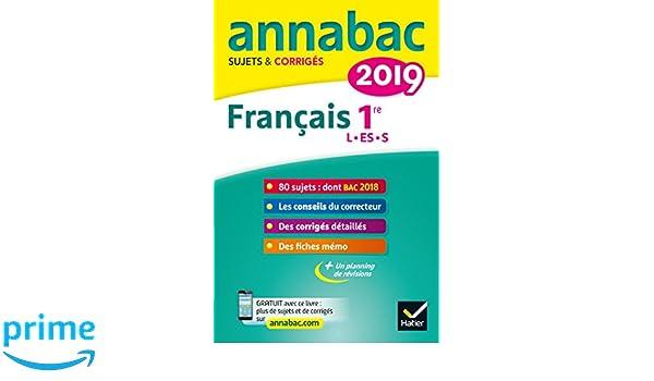 Annales Annabac 2019 Français 1re L, ES, S: sujets et corrigés du bac Première séries générales: Amazon.es: Sylvie Dauvin, Jacques Dauvin: Libros en idiomas ...