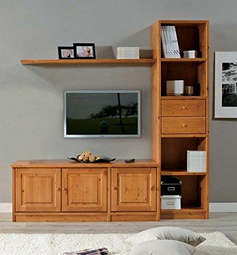 Arredamenti Rustici Mobile soggiorno porta tv in legno massello ...