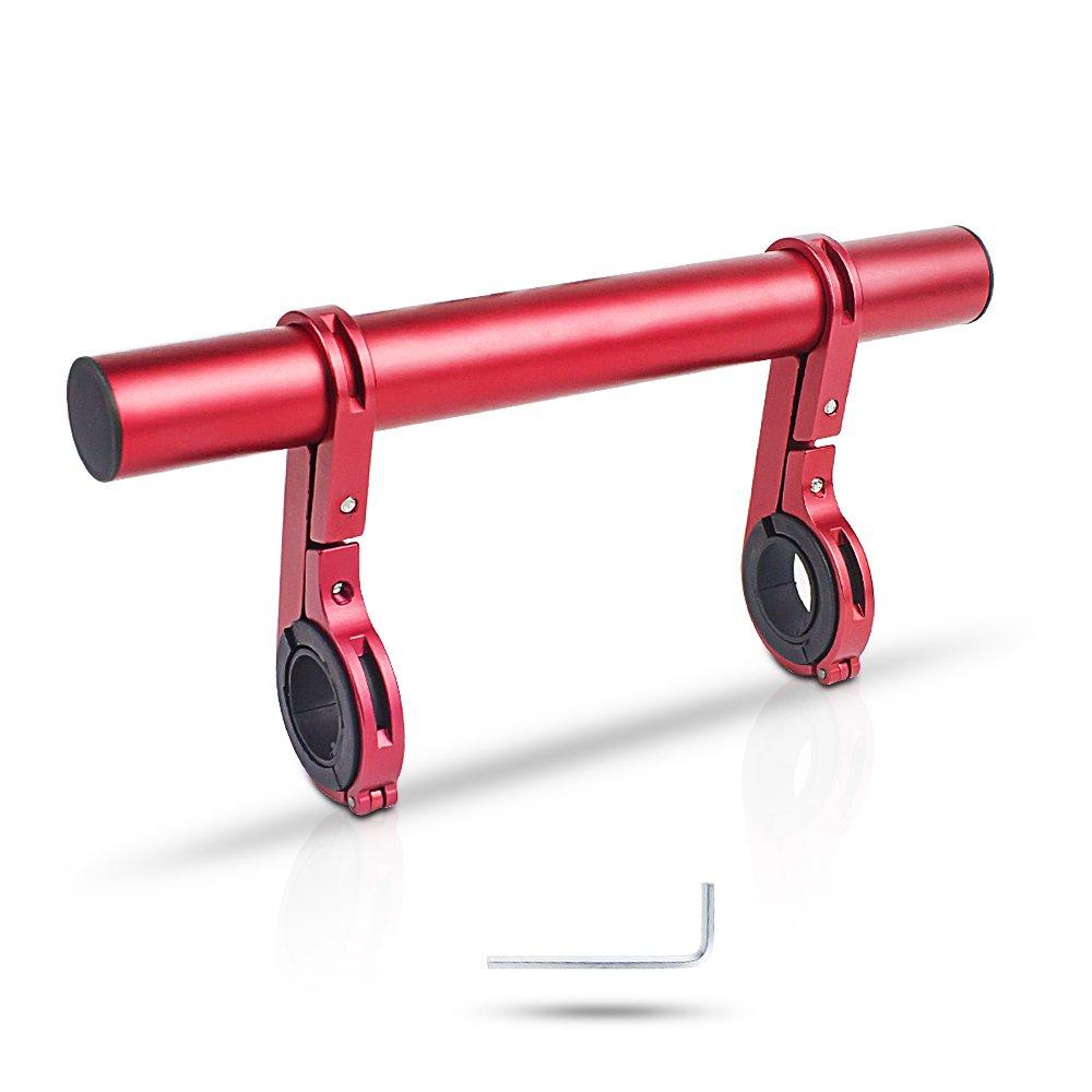 XYXtech del manubrio della bici della luce della lampada Extender supporto del telefono supporto della staffa di estensione in di per il motociclo E-bici della bicicletta (20 CM)