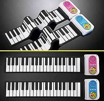 Teclado de Piano 37 Teclas Portátil Goma Flexible Silicio ...