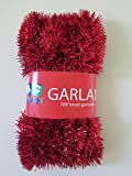 """Extra large Red Foil Tinsel Christmas Garland 708"""" (59 Feet) By Blue Green Novelty"""