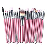 Hot Sale!20pcs/set Makeup Brush Set,Canserin Make-up Wool Toiletry tools Kit (Pink)