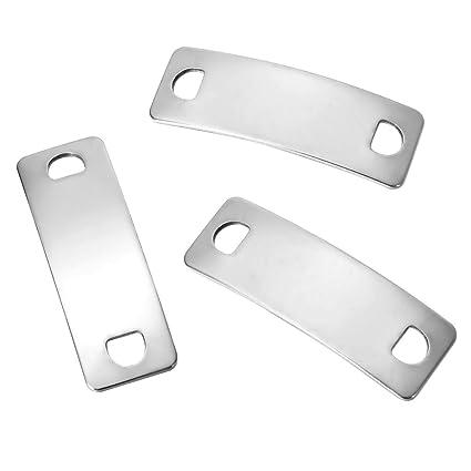 YF - 15 piezas de chapa de identificación de acero ...