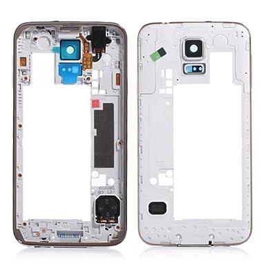 8fe2b396579 Original medio marco placa bisel vivienda Marco cámara cubierta trasera  para Samsung Galaxy S5 SV i9600 G900: Amazon.es: Electrónica