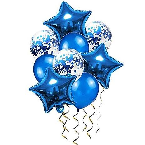 Amazon.com: Globos azules para decoración de cumpleaños con ...