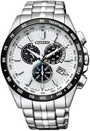 [シチズン] 腕時計 シチズン コレクション エコ?ドライブ電波時計 ダイレクトフライト クロノグラフ CB5874-90A メンズ シルバー