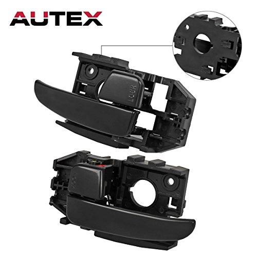 AUTEX 2pcs Textured Black Interior Door Handles Front Left Right Driver Passenger Side Compatible with Hyundai Elantra 2001 2002 2003 2004 2005 2006 Hyundai Elantra 83452 83453