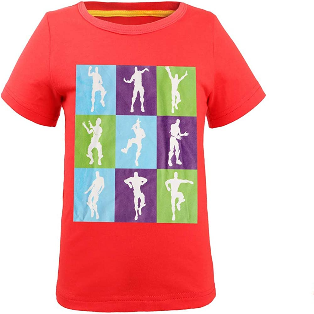 ALaMing Kids Unisex T Shirt Fashion Print Short Sleeve Top Tees for Boys Girls