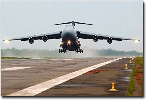 C-5 Galaxy Aircraft Taking Off US Air Force 8x12 Silver Halide Photo (Air Force Aircraft Photos)
