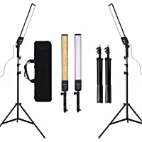 GSKAIWEN 24w 3200-5500K Dimmable LED Photography Light with Tripod and Bag Kit for Camera Video Studio YouTube Still…