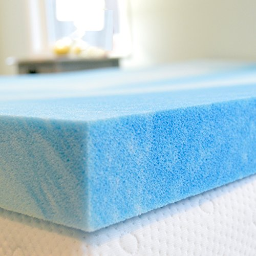 Gel Memory Foam Mattress Topper, Queen Size 2 Inch Thick, Ultra-Premium Gel-Infused Memory Foam Mattress/Bed Topper/Pad for a Cool, Conforming, and Comfortable Sleep. Made in The USA