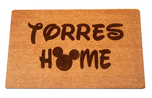 Mickey Mouse Home Personalized Laser Engraved Coir Fiber Welcome Doormat 30