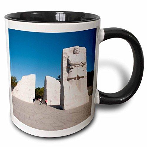3dRose 3dRose Martin Luther King Jr Memorial, Washington DC, USA - US09 LFO0143 - Lee Foster - Two Tone Black Mug, 11oz (mug_143501_4), , - Outlet Dc Washington