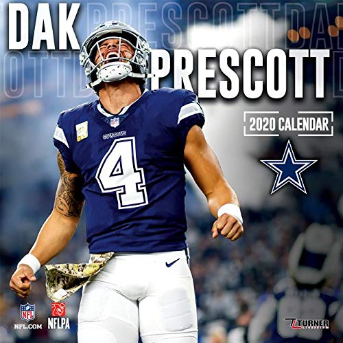 Dallas Cowboys 2020 Schedule.Dallas Cowboys Dak Prescott 2020 12x12 Player Wall Calendar
